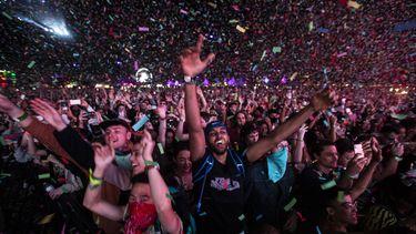 Het publiek bij festival Coachella.
