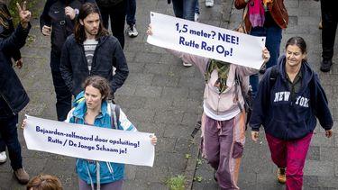 Foto protest tegen coronamaatregelen Utrecht