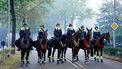 foto van politie op paarden