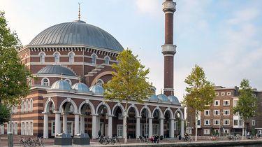 Op deze foto zie je de Westermoskee Aya Sofya in Amsterdam.
