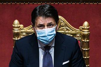 Een foto van de Italiaanse premier Giuseppe Conte