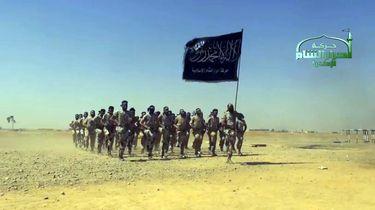 Foto van de terreurgroep Ahrar al-Sham