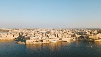 Op deze foto zie je Valletta, Malta