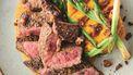 Geschroeide steak en rode chimichurri (van Jamie!)
