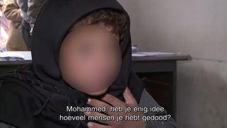 Mohammed (14) maakte de gruwelpraktijken van Islamitische Staat (IS) van dichtbij mee. Foto: screenshot VTM