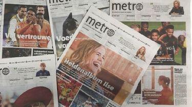 Het is voorbij... met de papieren Metro