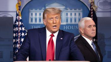 President Trump en vice-president Pence.