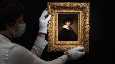 Foto van zelfportret Rembrandt van Rijn