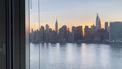 Een uitzicht vanuit een raam vanaf Long Island, USA.