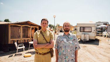 Een foto van Yannick van de Velde en Tom van Kalmthout op de Rundfunkcamping.