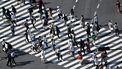Foto van een zebrapad in Tokio