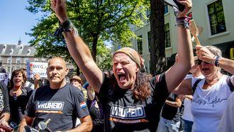 Zaterdag werd er door Viruswaanzin geprotesteerd tegen de coronamaatregelen.
