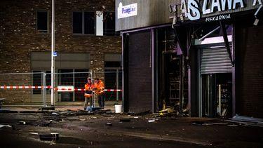 De Poolse supermarkt na de explosie.