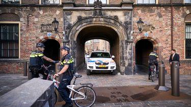 Volop politie, maar nog geen boeren in Den Haag