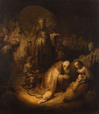 aanbidding der wijzen van Rembrandt