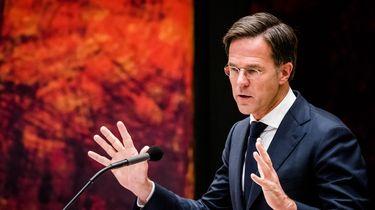 Een foto van Mark Rutte die verantwoordelijkheid neemt voor de koning