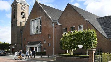 Een foto van de Hersteld Hervormde Kerk in Staphorst