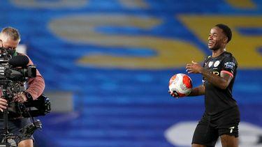 Een foto van Raheem Sterling van Manchester City