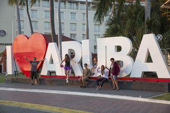 Een foto van I love Aruba