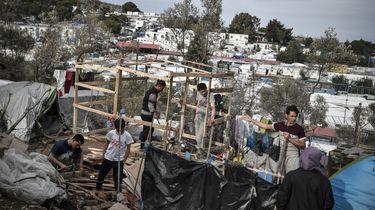 Opvangcentrum vluchtelingen op Lesbos is afgebrand.