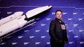 Een foto van Elon Musk bij de SpaceX