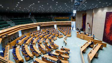 De Tweede Kamer na afloop van het debat over de waardering van medewerkers in de zorg.