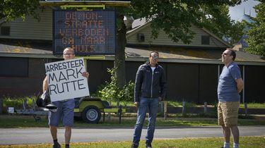 Foto van de betogers bij het Malieveld