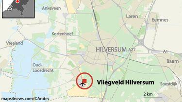 Vliegtuigje stort neer in Hilversum