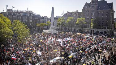 protest 'Samen voor Nederland' tegen coronabeleid