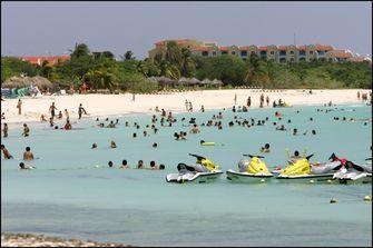 Foto van het strand op Aruba