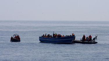 Migranten kust Tunesië
