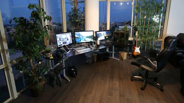 Een foto van een thuiswerkkantoor