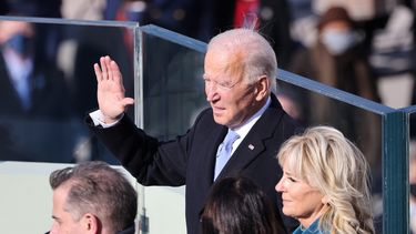 Joe Biden beëdigd als president.