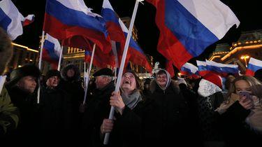 Poetin opnieuw verkozen tot president van Rusland.  / EPA