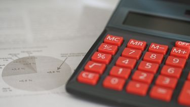 Een foto van een rekenmachine