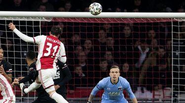 Doelpunt van Ajax tegen aan AZ.