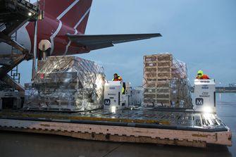 Hulpgoederen van het Rode Kruis onderweg. Foto: ANP