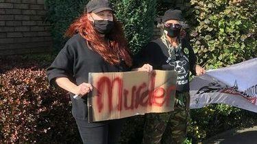 Vegan protest in Engeland