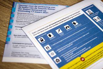 Een foto van een stempas voor de verkiezingen