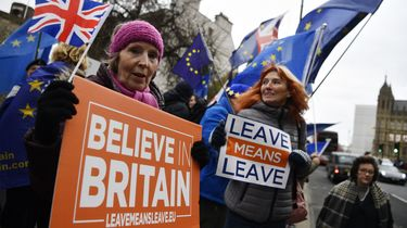 Protesten in Groot-Brittannië rondom de Brexit. Foto: ANP