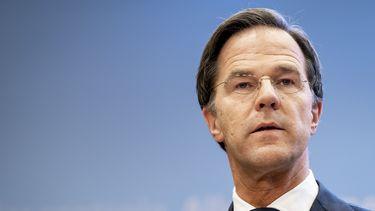 Premier Rutte tijdens de persconferentie. Coronasteun coronamaatregelen lockdown