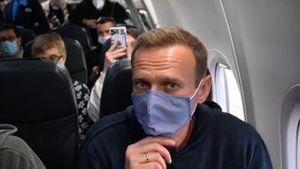 Navalni vertrok zondag per vliegtuig vanuit Berlijn.
