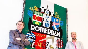 Wandtapijt vat Rotterdam krachtig samen