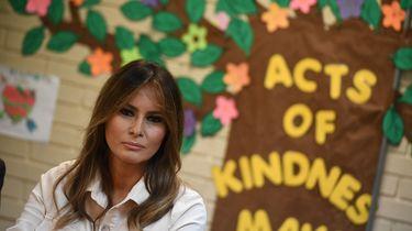 Melania Trump bezoekt kinderen in detentieoord. / AFP