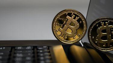 Een foto van bitcoins