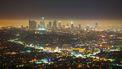 Op deze foto zie je de skyline van Los Angeles
