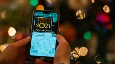 Een foto van een bericht over 2021 via Whatsapp