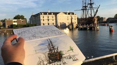 Het Scheepvaartmuseum in Amsterdam. Foto: privéarchief Ruud Otten