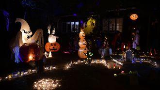 Trick or Treaters tijdens Halloween in Amerika. / ANP
