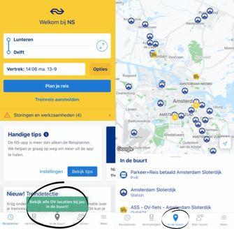 NS-app In de buurt nieuwe functie
